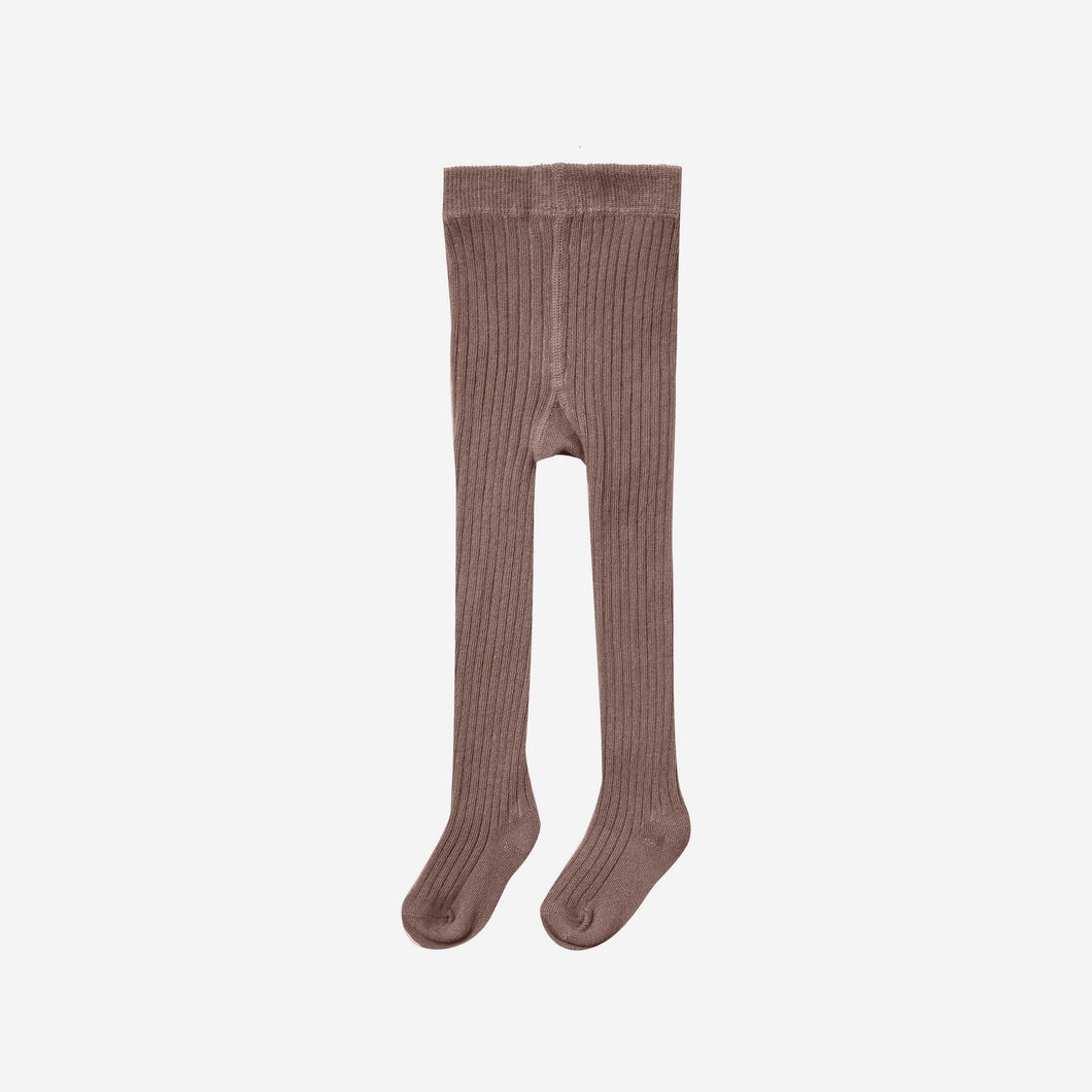 Solid Ribbed Tights Wine | Rylee + Cru