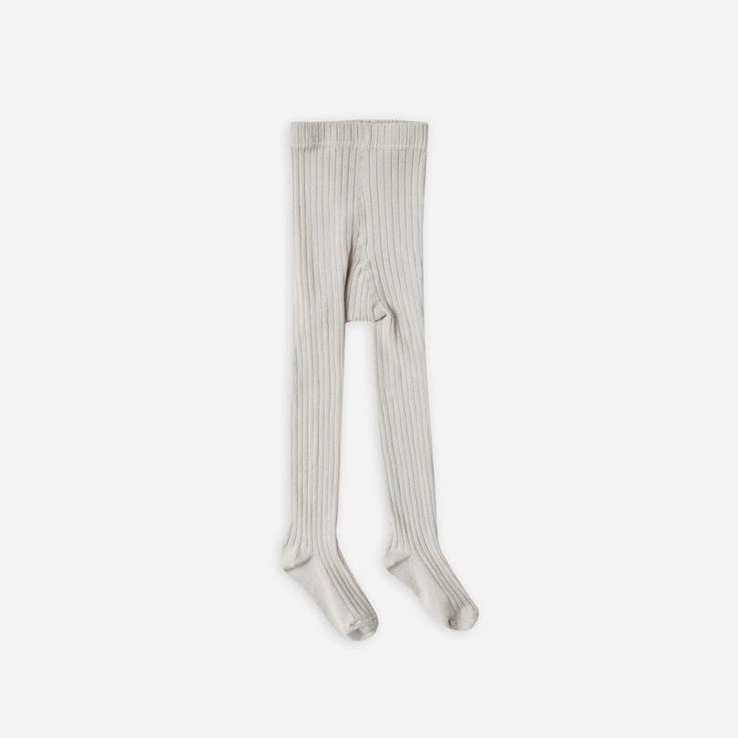 Solid Ribbed Tights Grey | Rylee + Cru