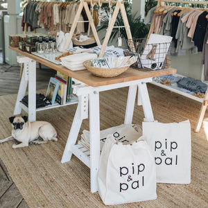 Pip & Pal Canvas Tote