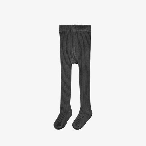 Solid Ribbed Tights Black | Rylee + Cru