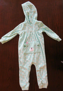 Baby Girl's One Piece Fleece Jumper Size 18 Months Carter's