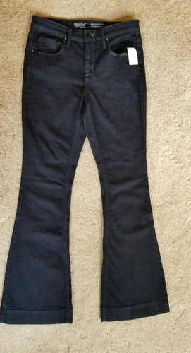NEW Women's Jeans Mossimo Size 6/28R Super Stretch High Rise Flare