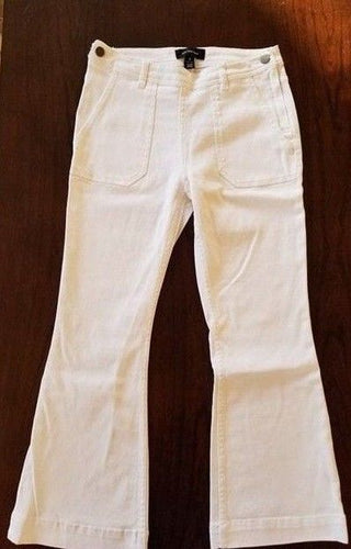 NEW WhoWhatWear  Women's Cropped Pants Size 4, 6, 8 Ivory White Jeans