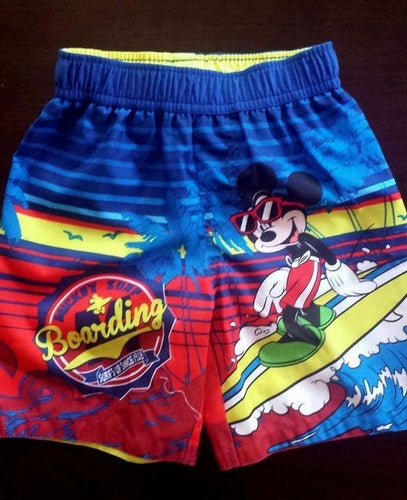 NEW Disney Boy's Swimming Trunks Mickey Mouse Size 3T 4T 5T