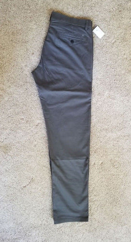 NEW Haggar Men's Pants Size 34x32 Gray Cotton