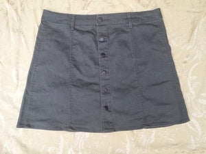 Mossimo Women's Skirt Size 16 Olive Jeans Button Down NWT