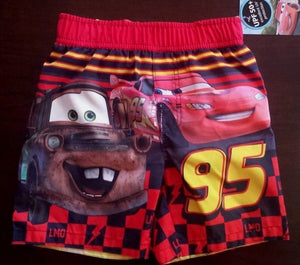 NEW Disney Cars Toddler Boys Swimming Trunks Size 4T and 5T NWT