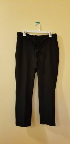 NEW Womens Dress Pants Black Size Medium Stretch A NEW DAY Slim Ankle