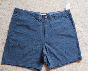 NEW Men's Shorts Size 42 Blue Merona 100% Cotton Flat Front