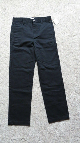 NEW Cat & Jack Boys Pants Size 12 School Uniform Black 100% Cotton