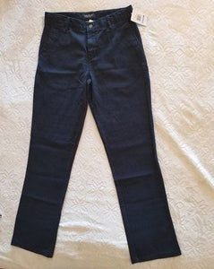 NEW Nautica Slim Straight Boy's Pants Size 20 Navy Blue