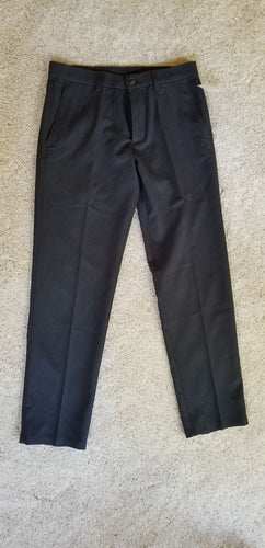 NEW Haggar Men's Pants Size 30x30 Black Pin Needle Striped