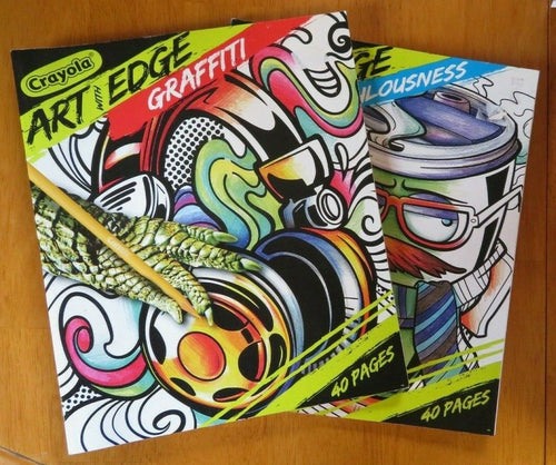 Coloring Book Lot of 2 Crayola For Older Kids Art & Edge