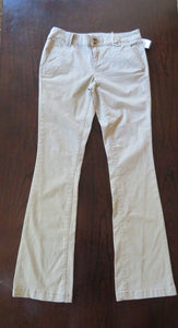 NEW Women's Chinos Size 00 Tan Mossimo Mid-Rise Bootcut Stretch