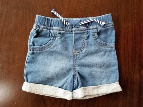 NEW Baby Girl Jeans Shorts Size 3-6M Cat &  Jack Target Soft
