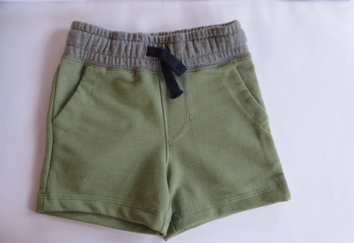 NEW Cat & Jack Baby Boy Shorts Green/Gray