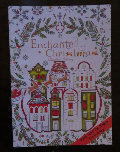 NEW Christmas Coloring Book Enchanted Christmas Adult Coloring Book