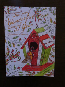 NEW Christmas Coloring Book The Most Wonderful Time of the Year Adult Coloring