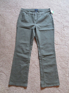 NEW Women's Sonoma Jeans-Pants Size 14 Average Olive-Sage Green