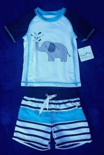 Starting Out (Dillards) Infant Boys Swimming Shirt and Trunk Set Size 12-18M NWT