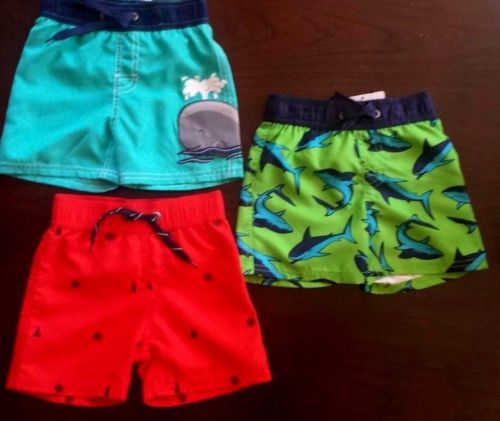Starting Out (Dillard's) Little Boy's Swimming Trunks Toddler 12/18M, 18/24M NWT