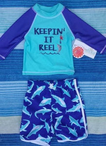 Candlesticks (Dillard's) Infant Boys Swimming Shirt and Trunks 12M, 18M, 24M NWT