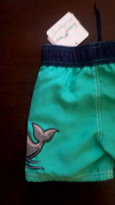 Teal Starting Out (Dillard's) Little Boy's Swimming Trunks Toddler 12/18M, 18/24M NWT
