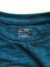 NEW Champion Athletic Boy's Shirt Size XS (4-5) Long Sleeve Blue Meliered DuoDry