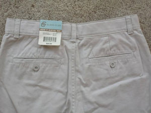 NEW Boys Shorts Size 16 Class/Club Navy Tan Lot of 2 Dillards School Uniform