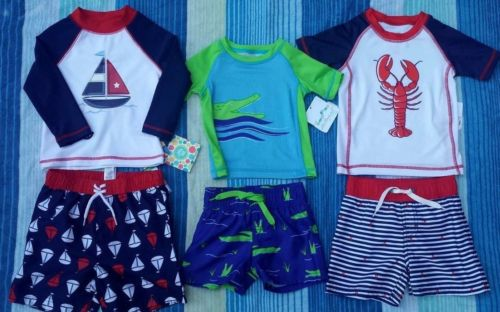 Little Me/Starting Out Boys Swimming Shirt Trunk Set 3/6M, 12/18M 18M, 24M NWT