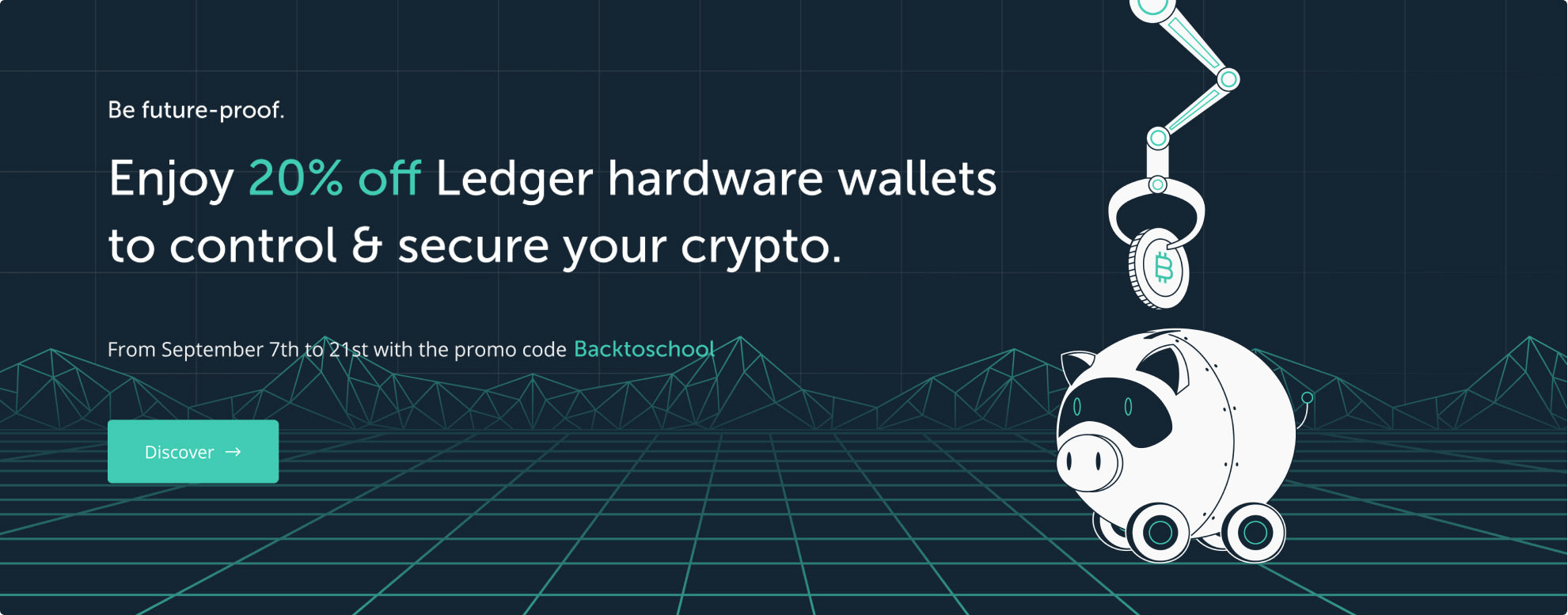 Enjoy 20% off Ledger hardware wallets