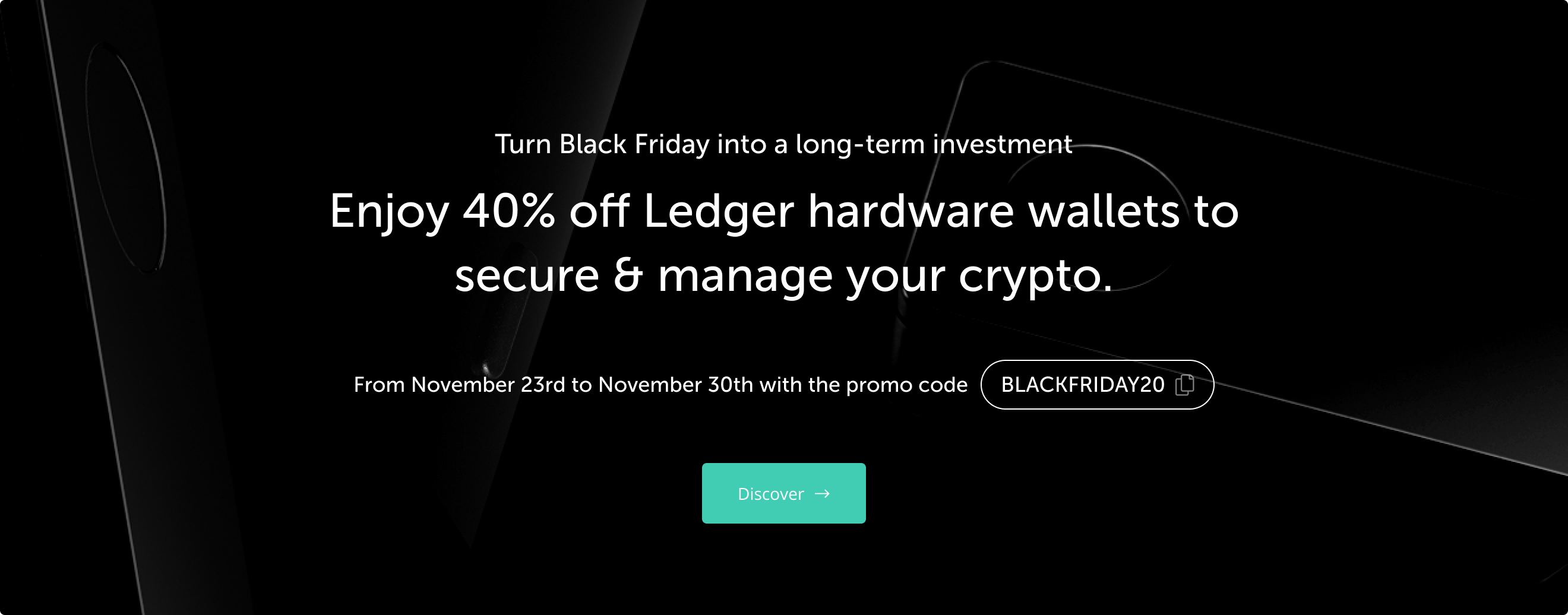 Enjoy 40% off Ledger hardware wallets