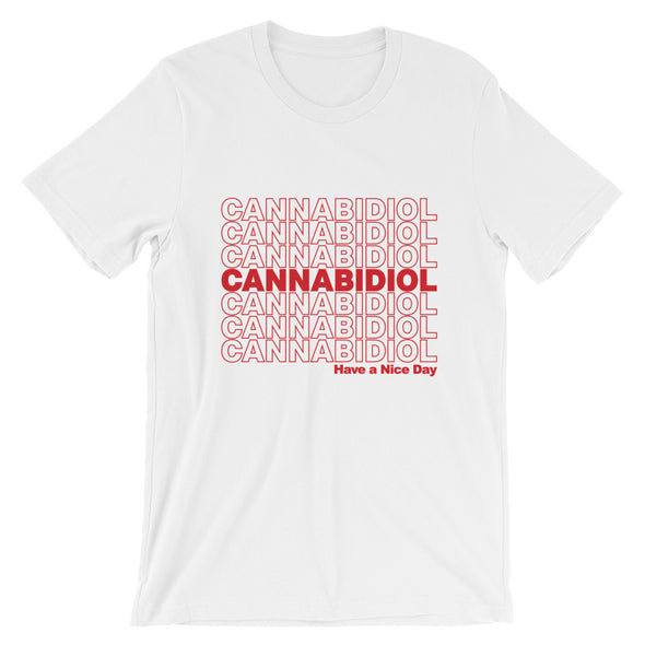 Cannabidiol (CBD) Have A Nice Day - Short-Sleeve Unisex T-Shirt