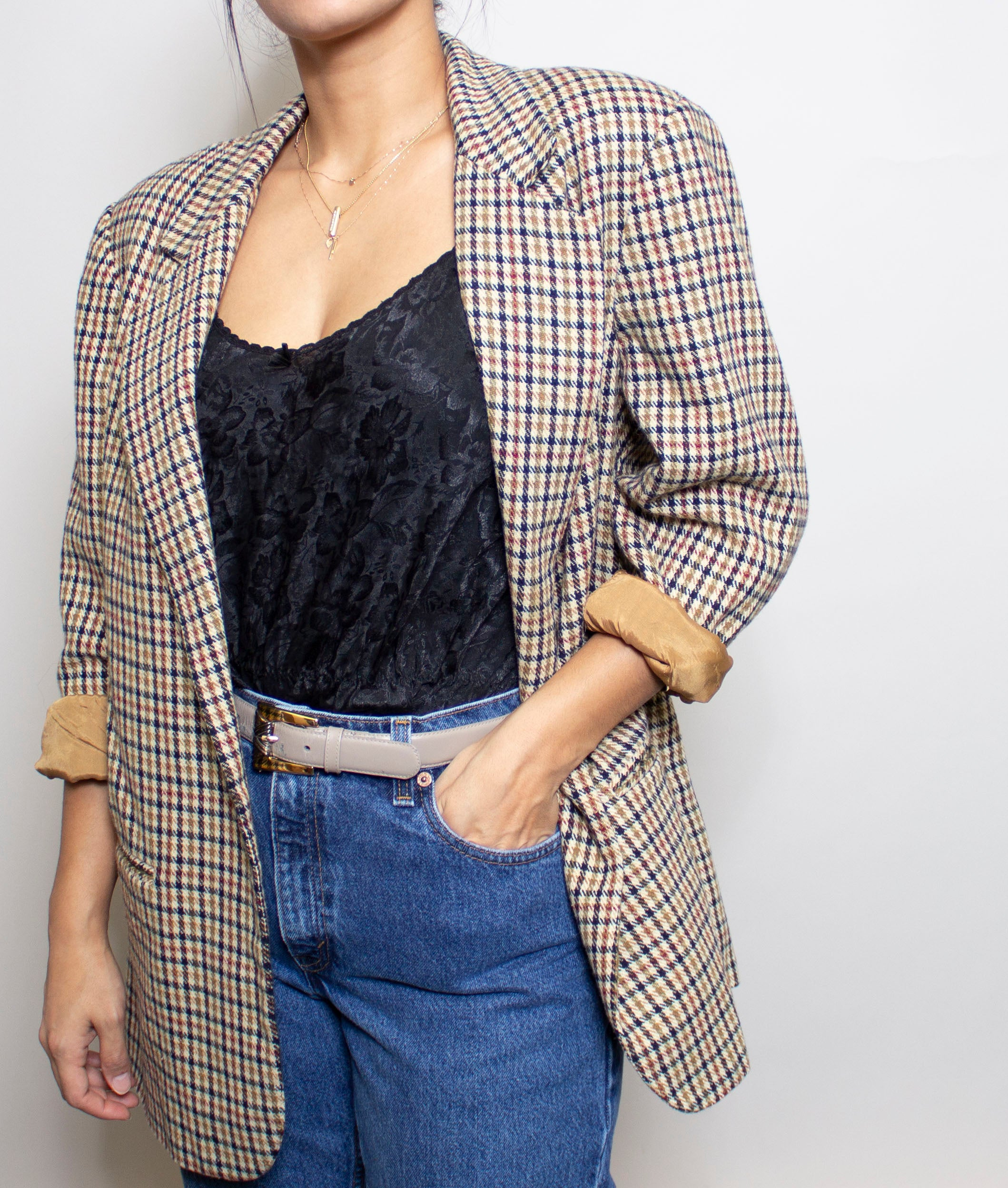 Tan Check 'Mens' Blazer