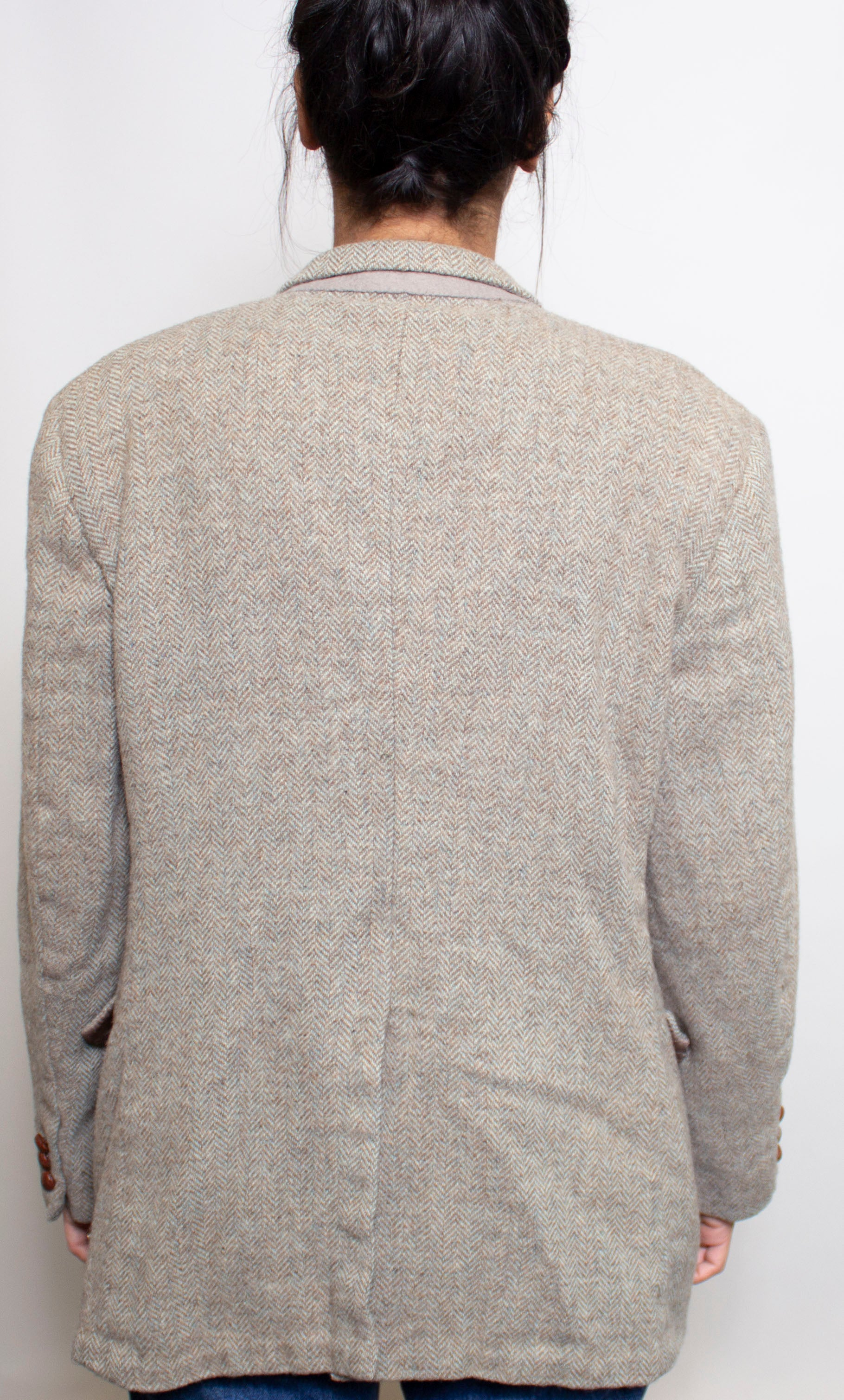 Beige Tweed 'Mens' Blazer