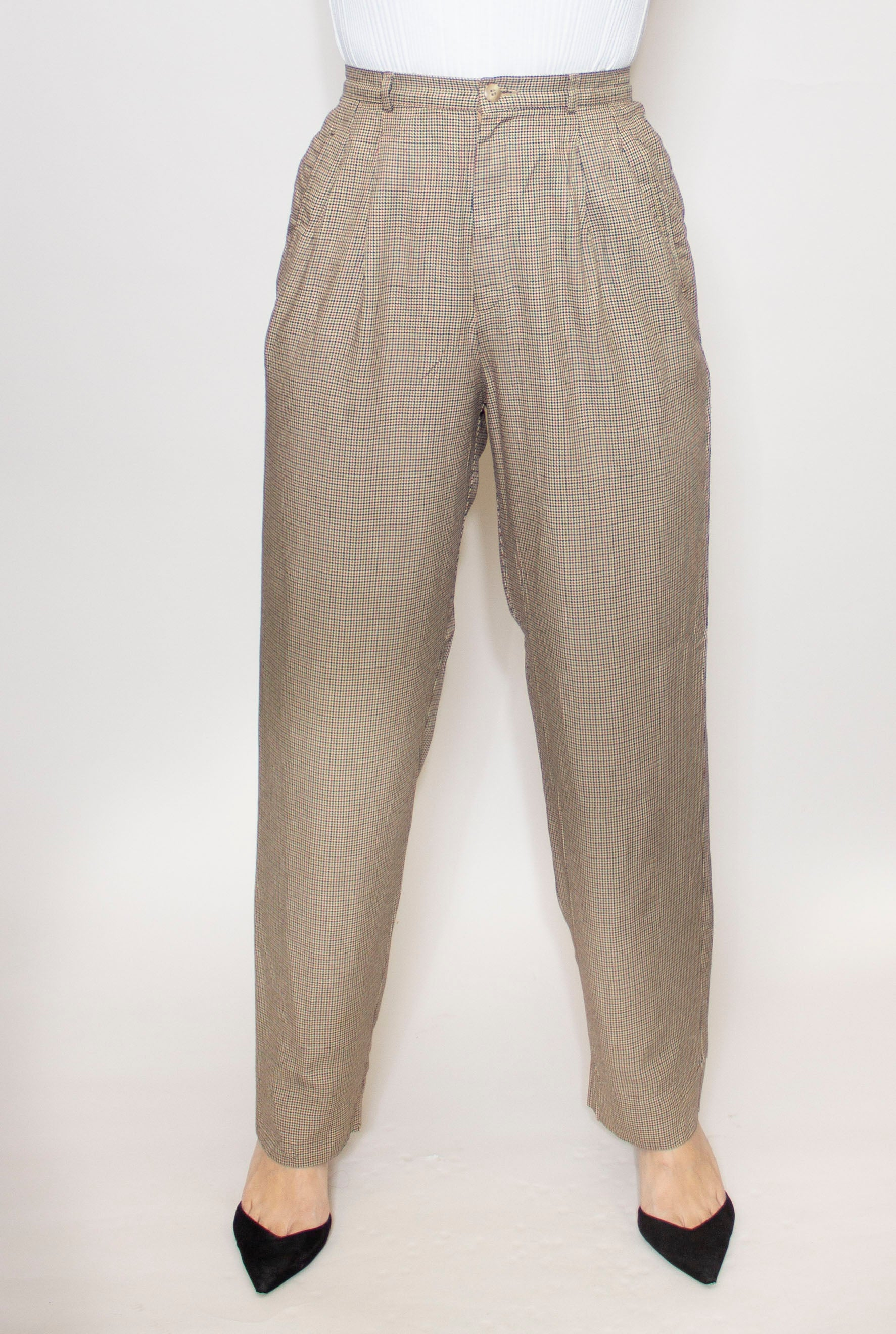 Casey Pleated Hi-Waist Trouser