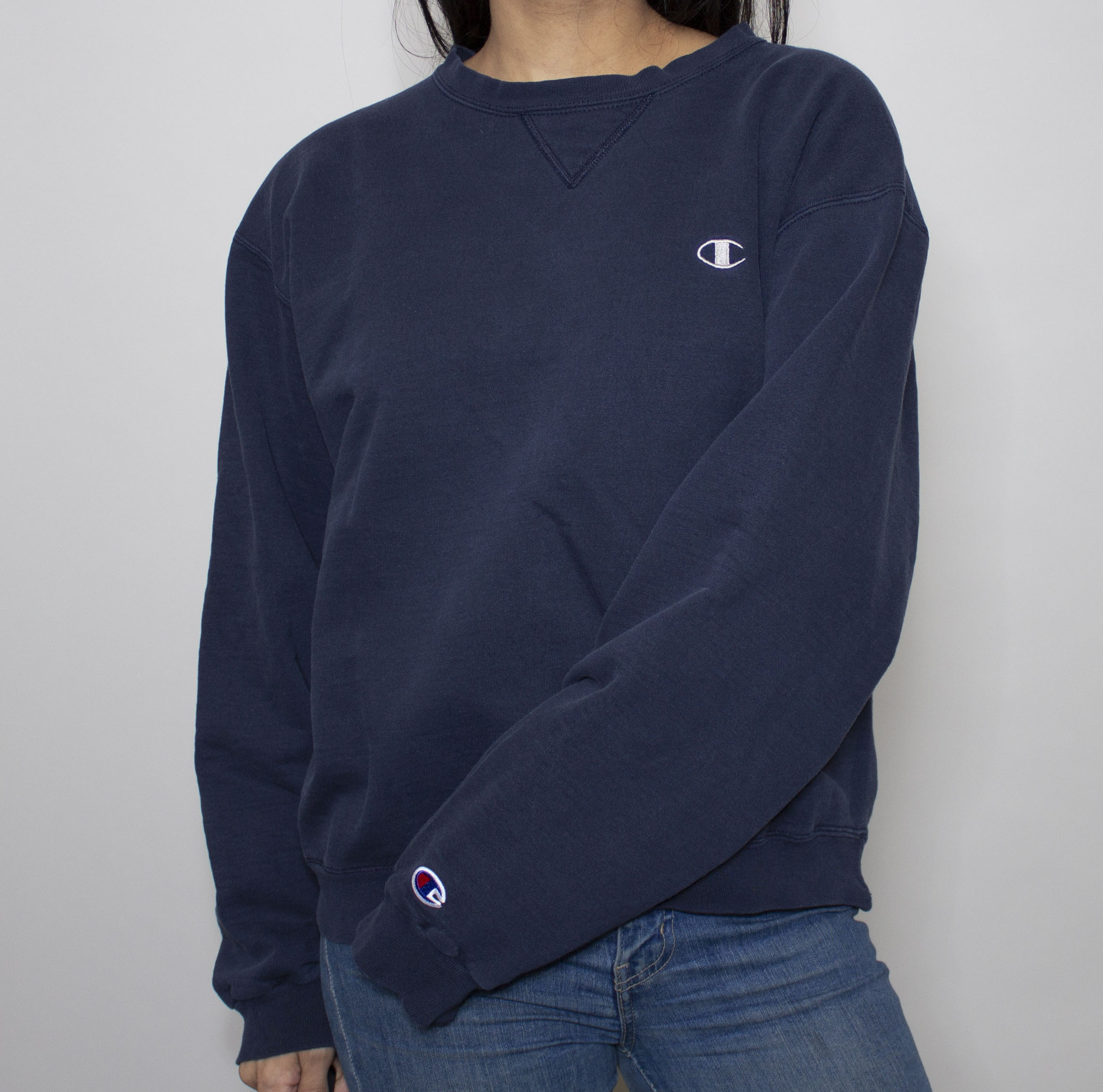 Navy Champion Crewneck