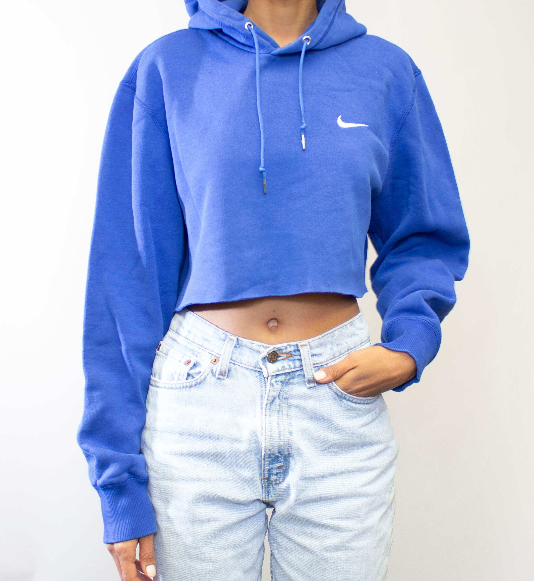 Azure Nike Hooded Crop