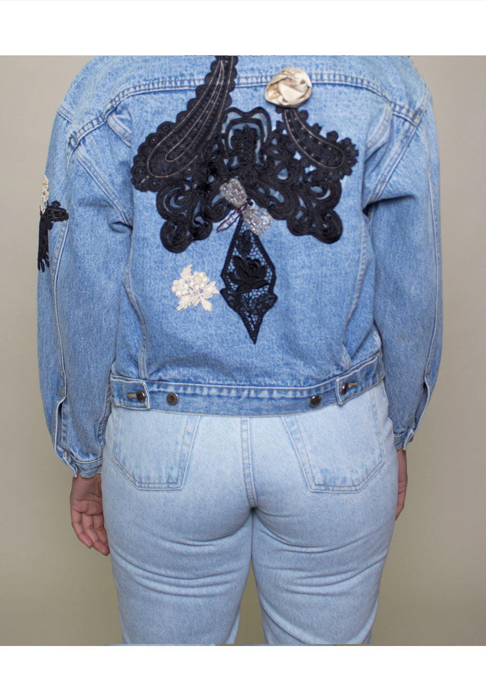 Guess Embroidered Denim Jacket