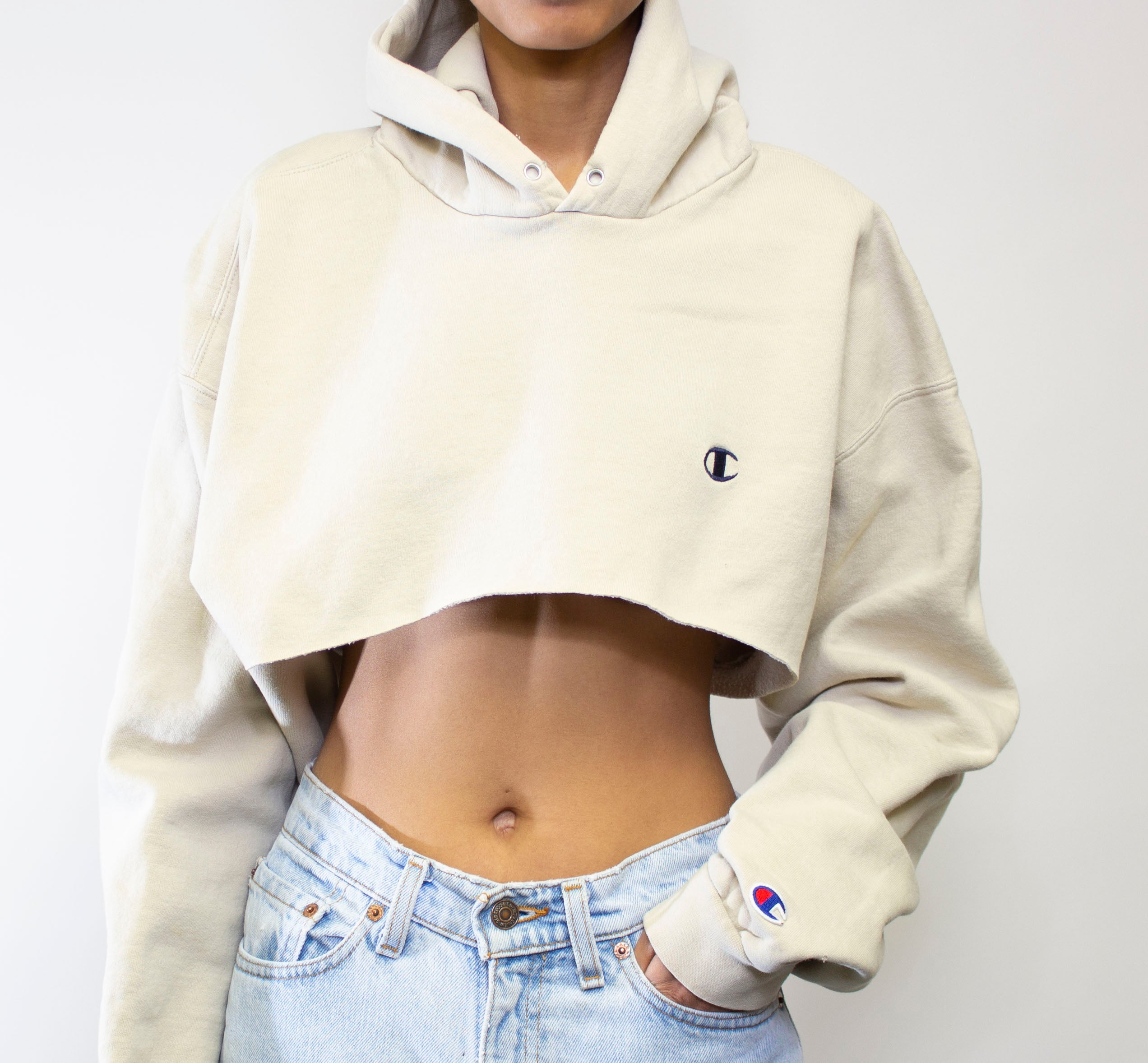 Tan Champion Hooded Crop
