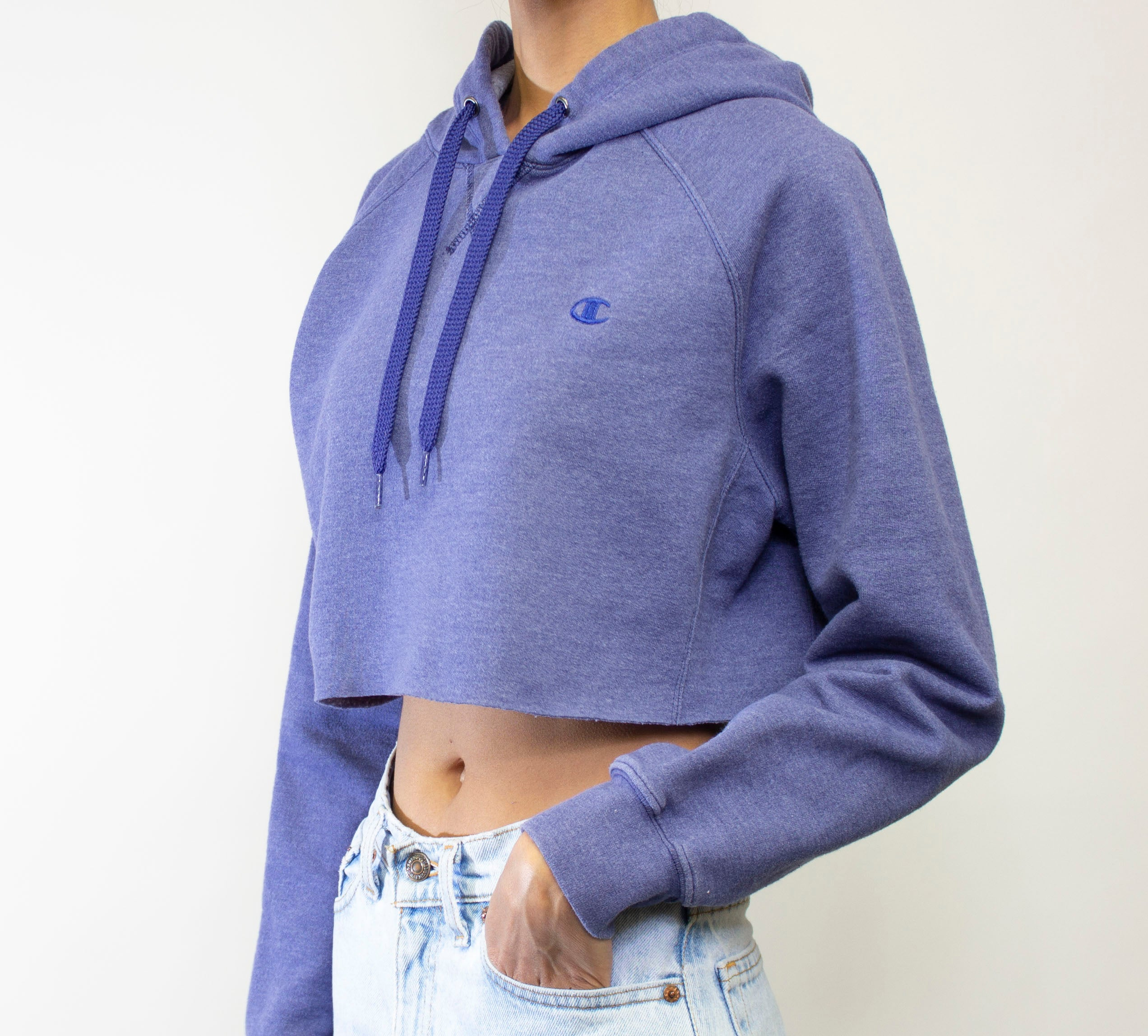 Purple Champion Hooded Crop