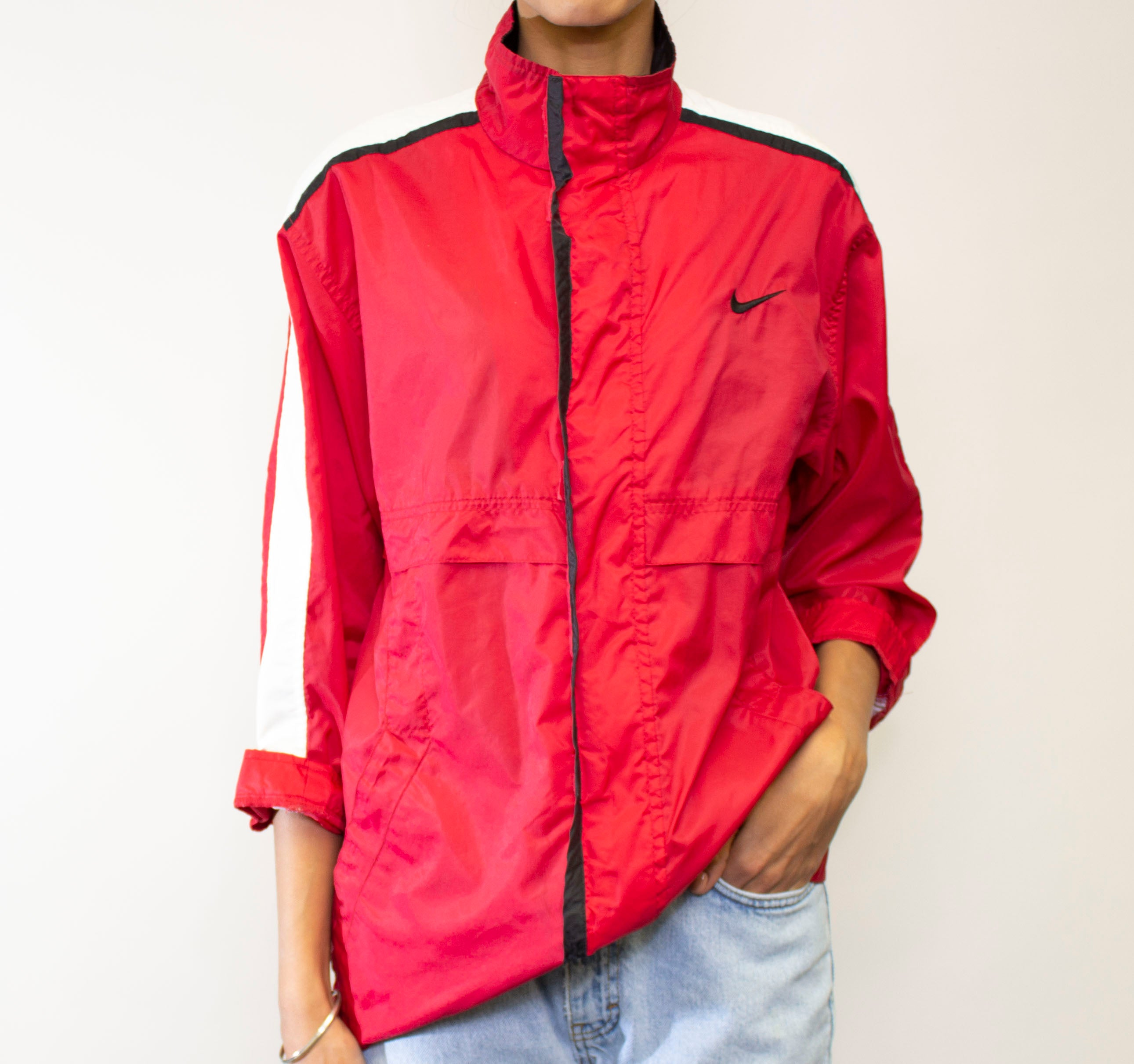 Red Stripe Nike Windbreaker – BridgeandBardot bb3bfd041