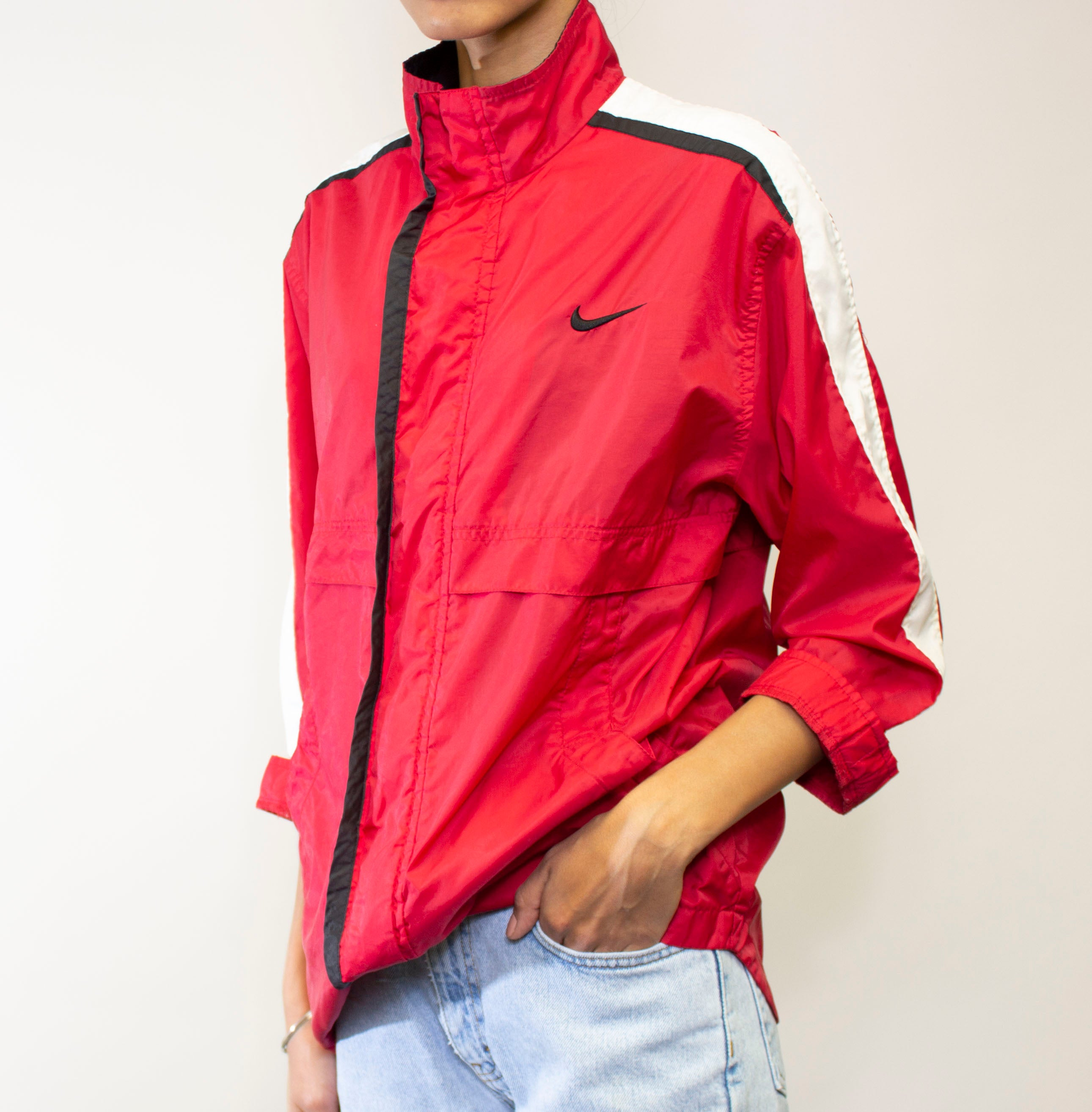 Red Stripe Nike Windbreaker