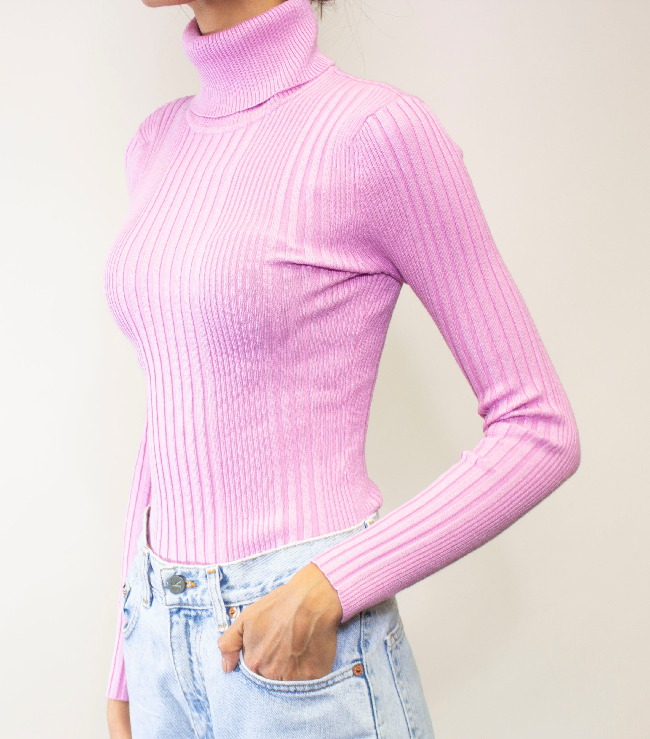 Bubblegum Pink Turtleneck