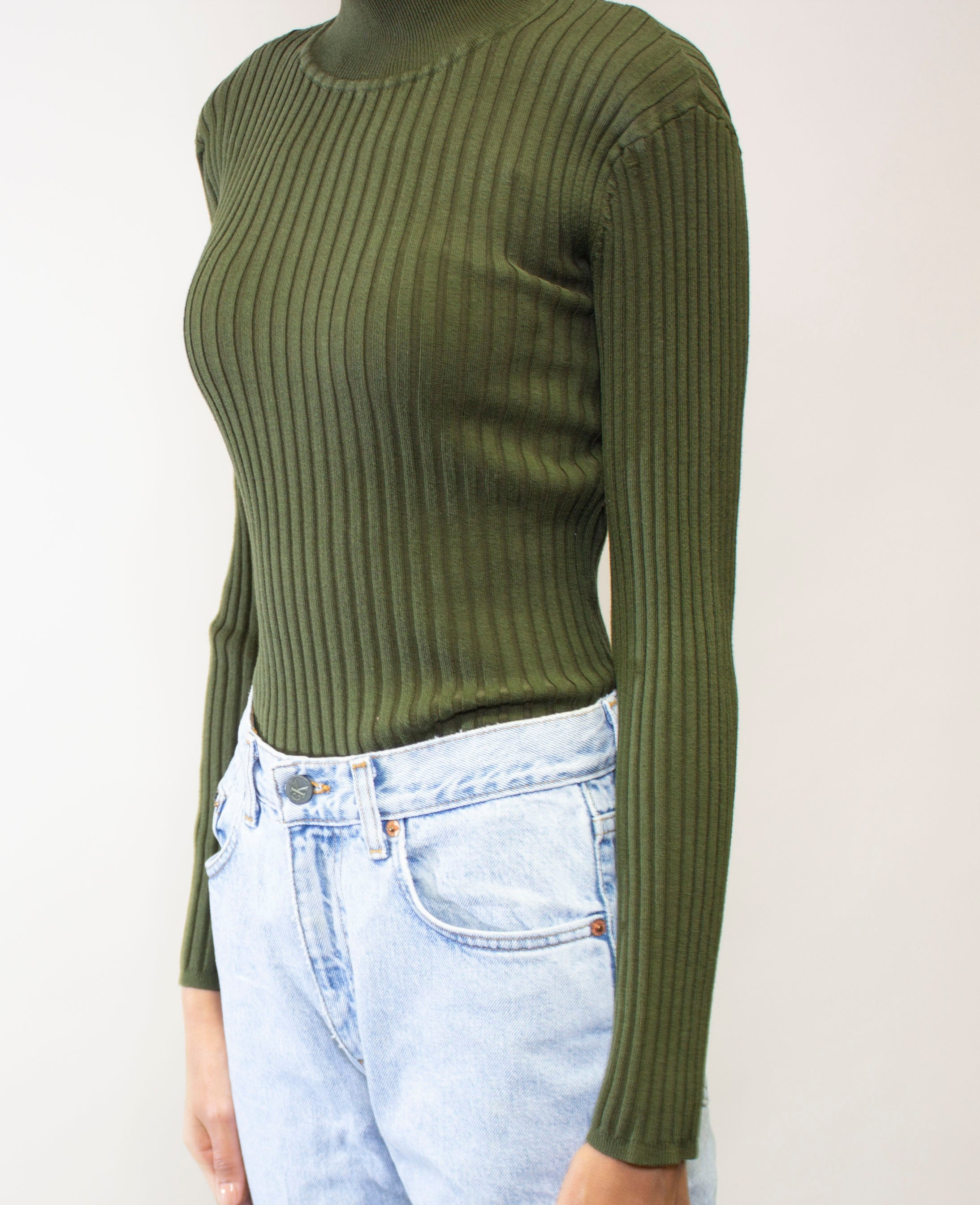 Military Green Turtleneck