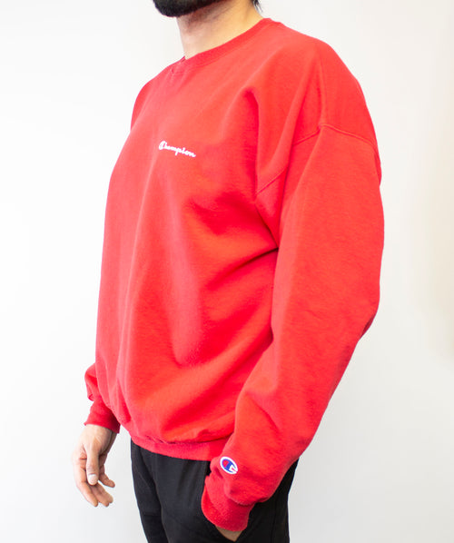 Champion Red Crewneck