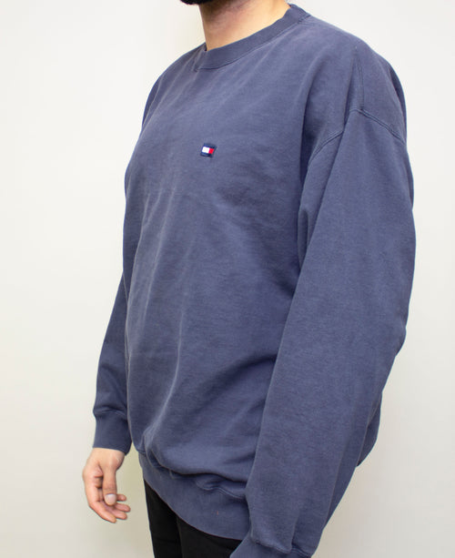 Blue Tommy Crewneck