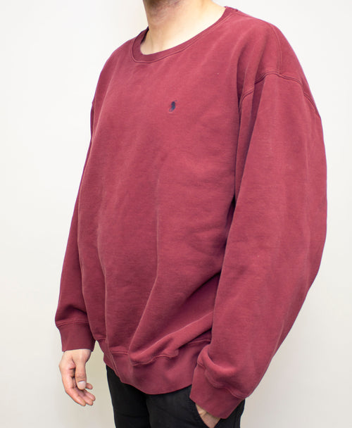 Burgundy Polo Crewneck