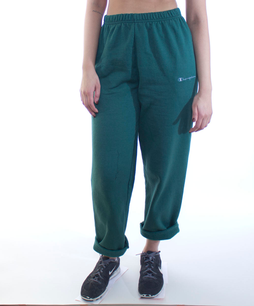 Green Champion Sweatpants