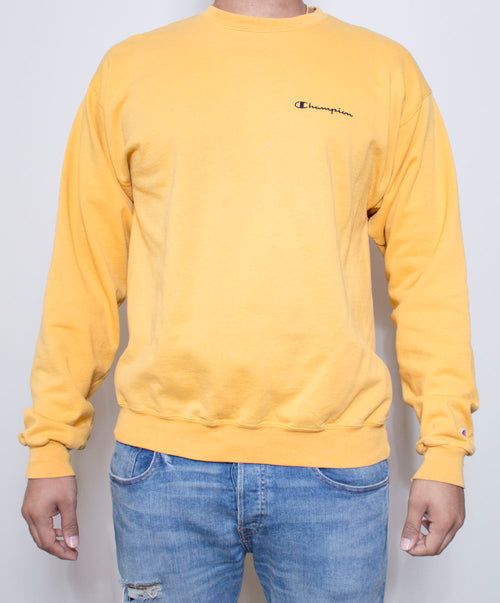 Mellow Yellow Champion Crewneck